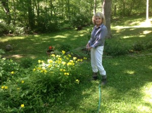 Nan in Garden #1